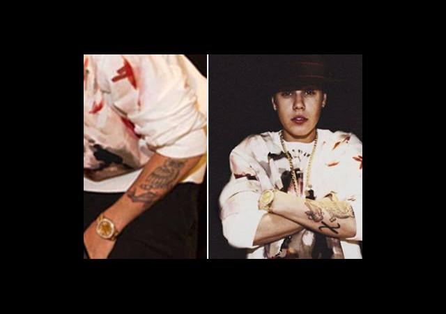 Justin Bieber'a Yeni Dövme