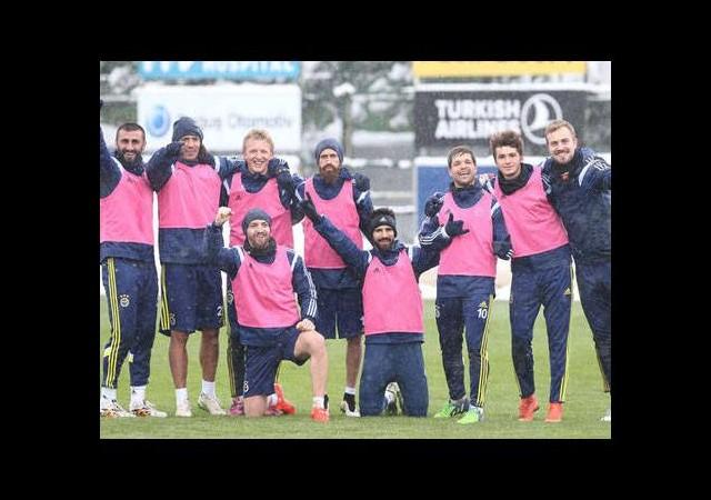 Fenerbahçe'yi kar engelleyemedi!