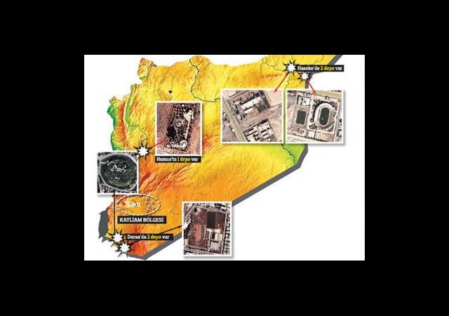 İşte Esad'ın Kimyasal Silah Depoları
