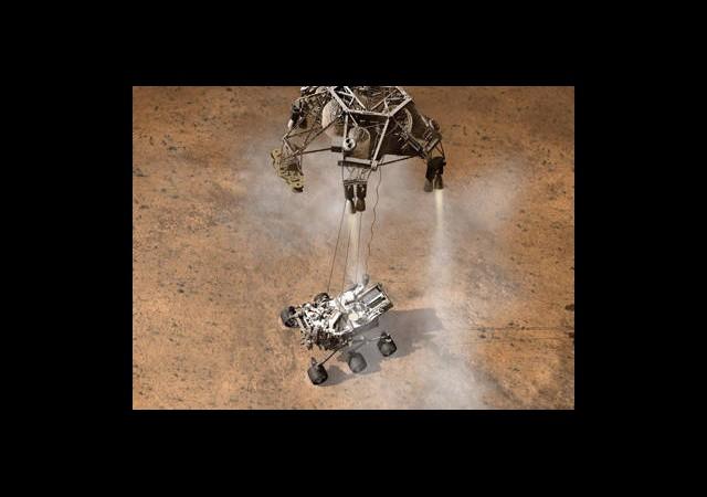 Mars'ta Tarihi Gün! 'Merak' Mars'a İndi