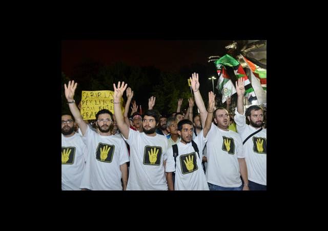 Saraçhane Parkı'nda Mısır Eylemi
