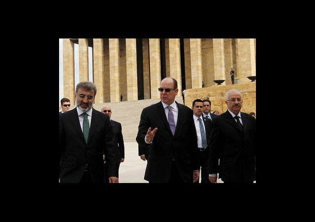 Monako Prensi Ankara'da