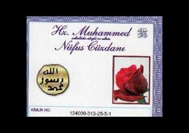 'Hz. Muhammed Kimlikli' cüzdanla davet ettiler