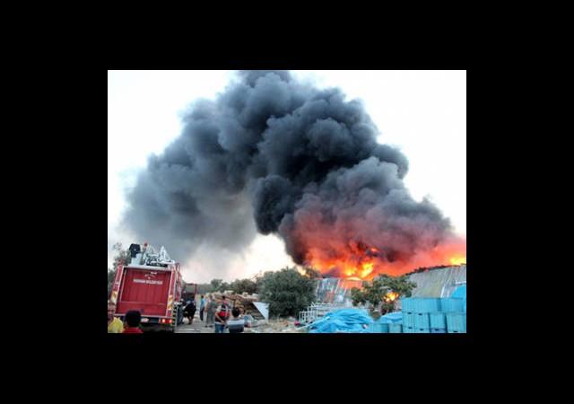 Edremit'teki Yangın Yeniden Başladı
