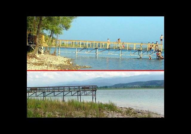 Sapanca Gölü'nde ürküten görüntü