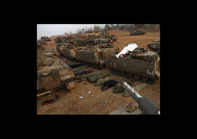 40 Bin Asker Gazze Sınırında