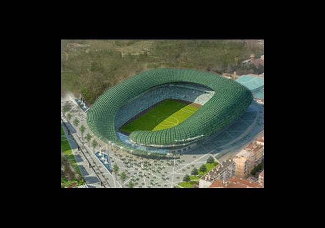 ''Timsah Arena''da Ttribünler Yükseliyor