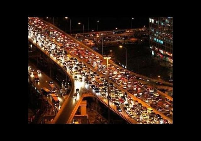İstanbul'da Trafik Çilesi