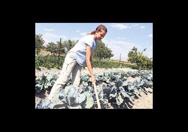 Tuğçe Kazaz Organik Tarıma Başladı
