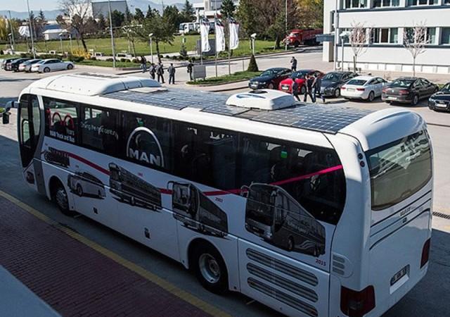 Türkiye'nin ilk güneş otobüsü