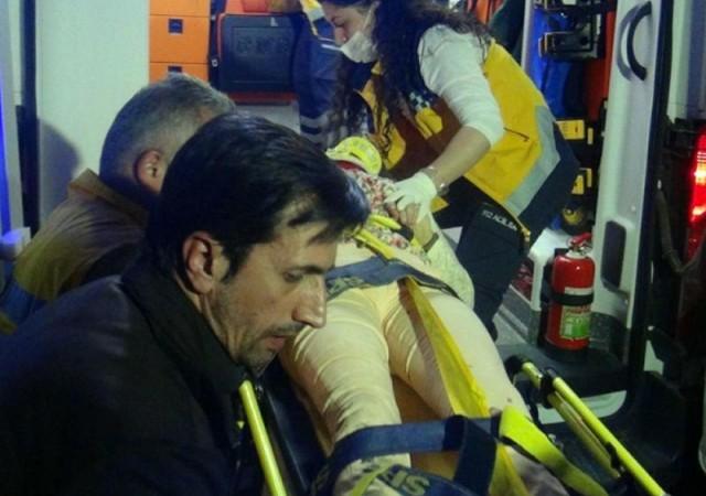Feci kazada genç kızın ayağı koptu