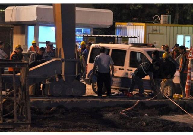 Metro inşaatında feci kaza