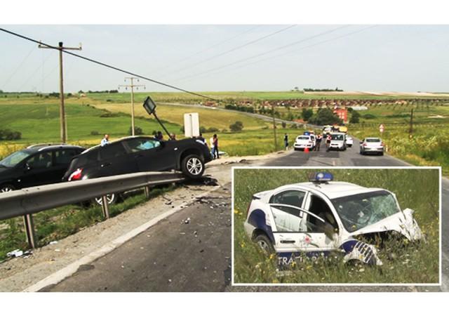 Trafik polisi kazada şehit oldu