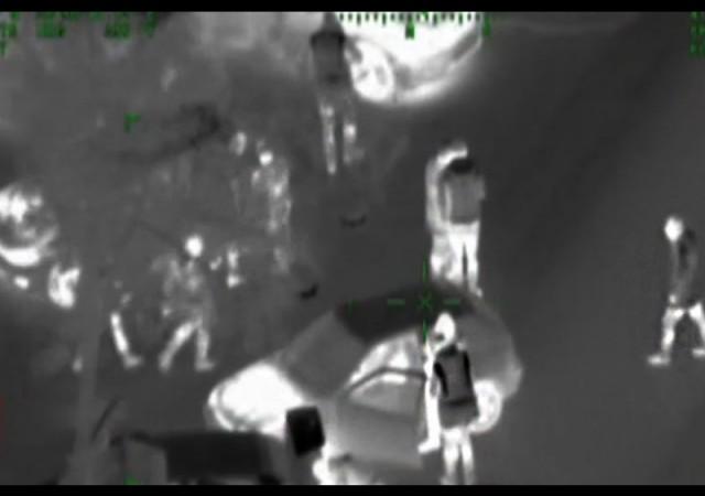 Huzur operasyonu havadan böyle görüntülendi