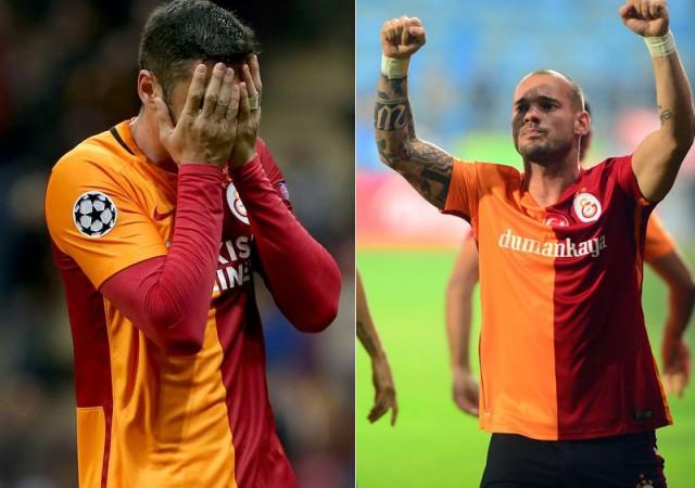 Galatasaray'da Sneijder ve Burak Yılmaz şoku!