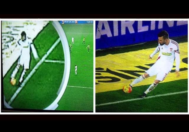 Fenerbahçe-Sivasspor maçında olay yaratan pozisyon!