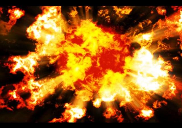 Mutfak tüpü bomba gibi patladı patladı
