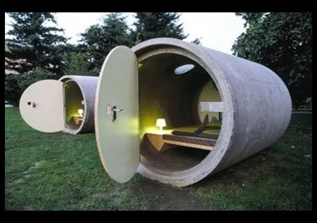 Kanalizasyon borusunu otel yaptılar