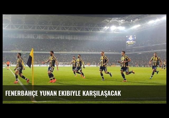 Fenerbahçe Yunan ekibiyle karşılaşacak