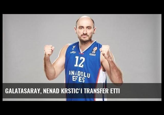 Galatasaray, Nenad Krstic'i transfer etti