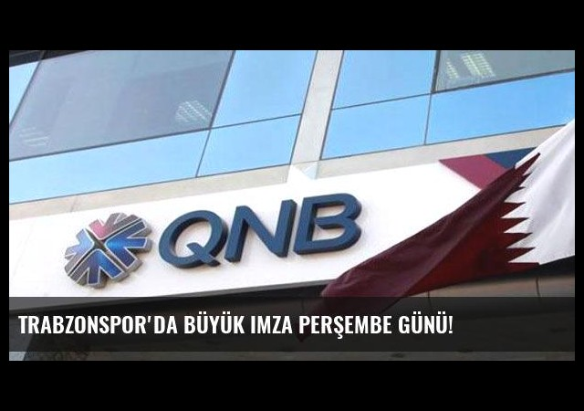 Trabzonspor'da büyük imza Perşembe günü!