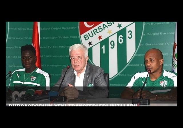 Bursaspor'un yeni transferleri imzaladı!