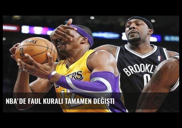 NBA'de faul kuralı tamamen değişti