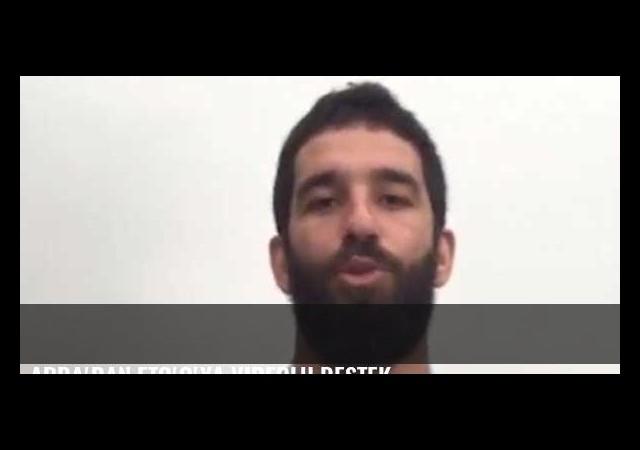Arda'dan Eto'o'ya videolu destek