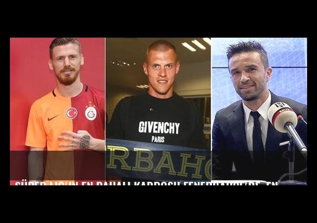 Süper Lig'in en pahalı kadrosu Fenerbahçe'de, en ucuzu Adanaspor'da
