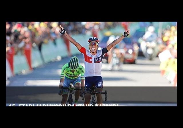 15. etabı Jarlinson Pantano kazandı