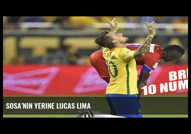Sosa'nın yerine Lucas Lima