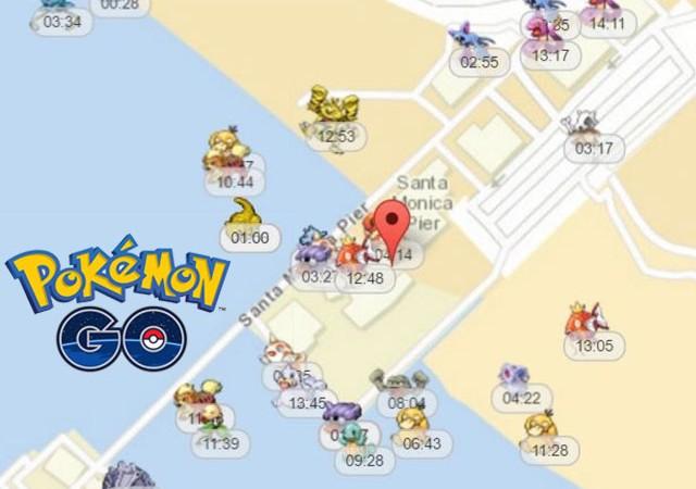 Bu harita etrafınızdaki Pokemonları gösteriyor!