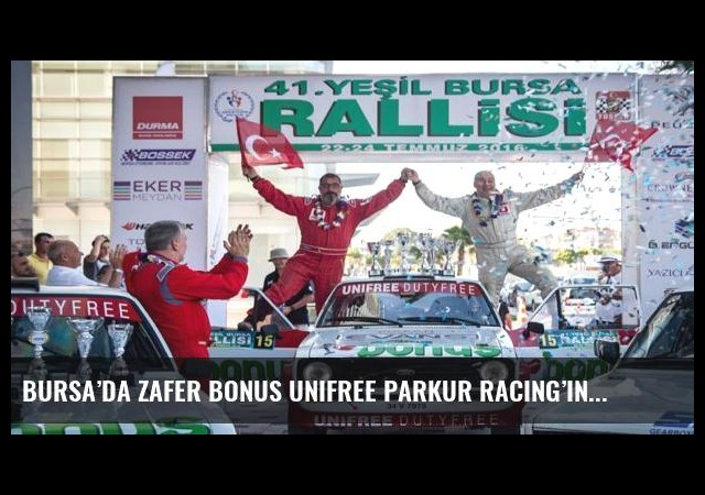 Bursa'da zafer Bonus Unifree Parkur Racing'in