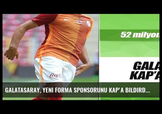 Galatasaray, yeni forma sponsorunu KAP'a bildirdi