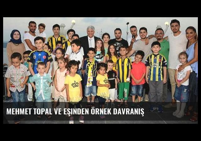 Mehmet Topal ve eşinden örnek davranış
