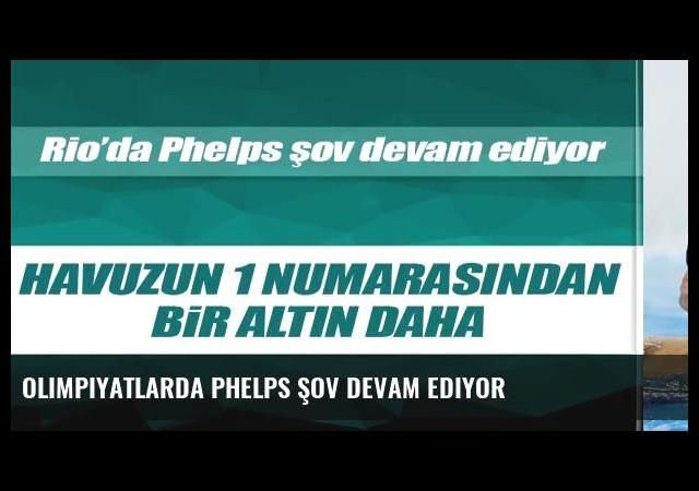 Olimpiyatlarda Phelps şov devam ediyor