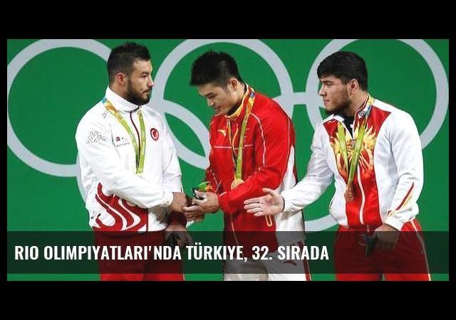 Rio Olimpiyatları'nda Türkiye, 32. sırada