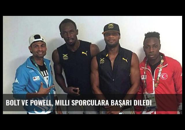 Bolt ve Powell, milli sporculara başarı diledi