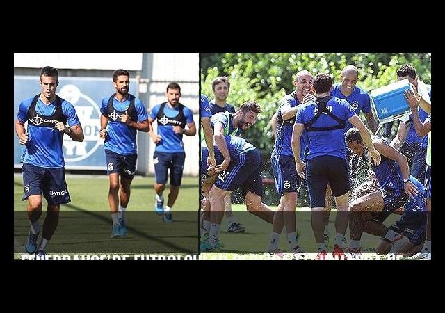 Fenerbahçe'de futbolcular Pereira'sız idmanda neşe saçtı