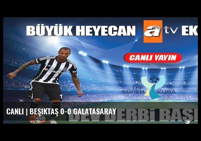 CANLI | Beşiktaş 0-0 Galatasaray