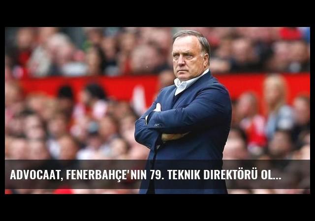 Advocaat, Fenerbahçe'nin 79. teknik direktörü oluyor
