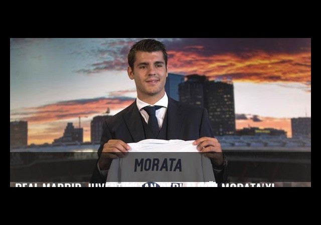 Real Madrid, Juventus'tan geri aldığı Morata'yı basına tanıttı