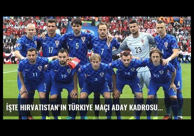 İşte Hırvatistan'ın Türkiye maçı aday kadrosu