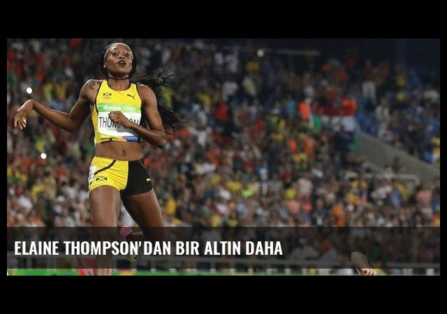 Elaine Thompson'dan bir altın daha