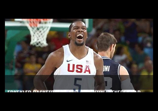 Erkekler basketbolda ABD, Arjantin'i yenerek yarı finale yükseldi