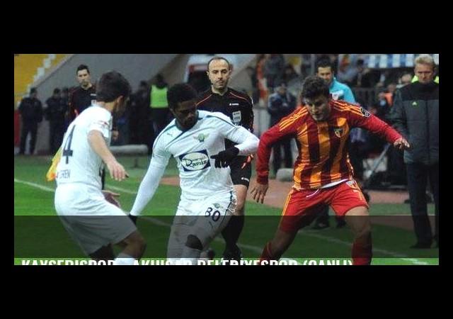Kayserispor - Akhisar Belediyespor (Canlı)