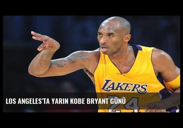 Los Angeles'ta yarın Kobe Bryant Günü