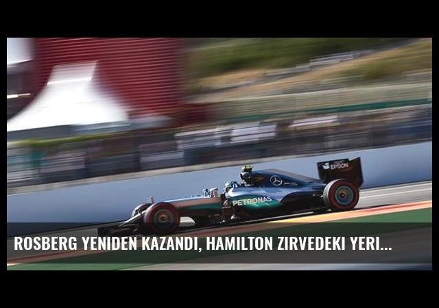 Rosberg yeniden kazandı, Hamilton zirvedeki yerini korudu