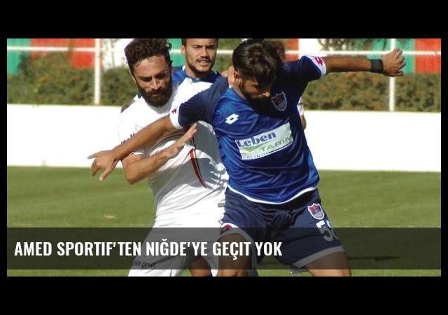 Amed Sportif'ten Niğde'ye geçit yok