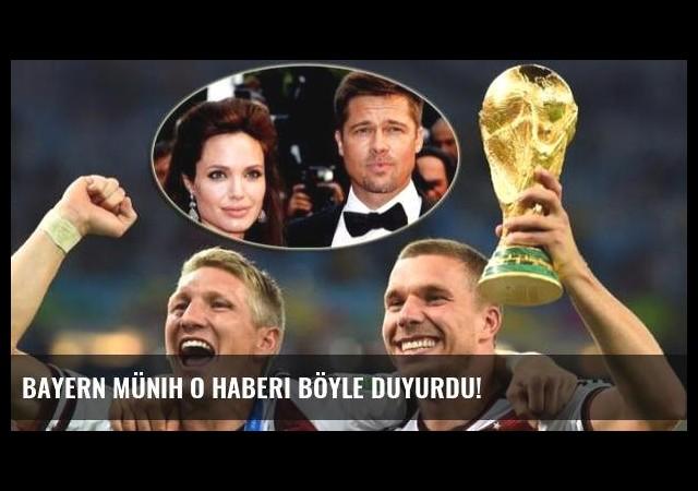 Bayern Münih o haberi böyle duyurdu!